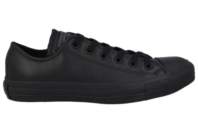 d884a2e67704 Converse All Star Chuck Taylor Ox 135253c Black Mono Leather Shoes ...