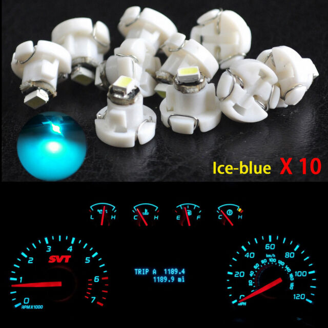 10XIce Blue T4.2 Neo Wedge 1-SMD LED Cluster Instrument Dash Climate Bulbs Light