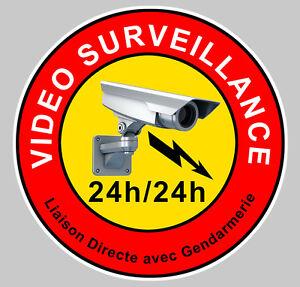 VIDEO SURVEILLANCE CAMERA PROTECTION 9cm AUTOCOLLANT STICKER (VA046)