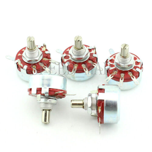 5pcs WTH118-1A 2W 220K Ohm 6mm Round Shaft Linear Taper Rotary Potentiometer Pot