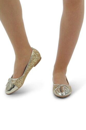 Nouveau Débardeur Filles Paillettes Femmes Brillant à Enfiler Demoiselle D/'honneur Dolly Chaussures Escarpins 3-8