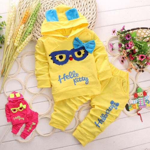 Newborn Baby Girl 100/% Cotton Fashion Clothing Set Toddler Infant Kids Outfit