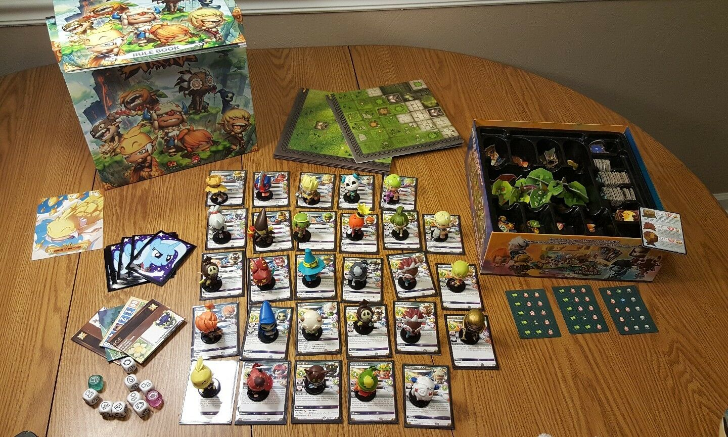 Krosmaster Arena used with expansions board game near mint 28 28 mint figures extra sets 015f24