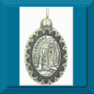 Scalloped-Edge-Series-Our-Lady-of-Lourdes-Medal-1-034-Catholic-Made-in-ITALY