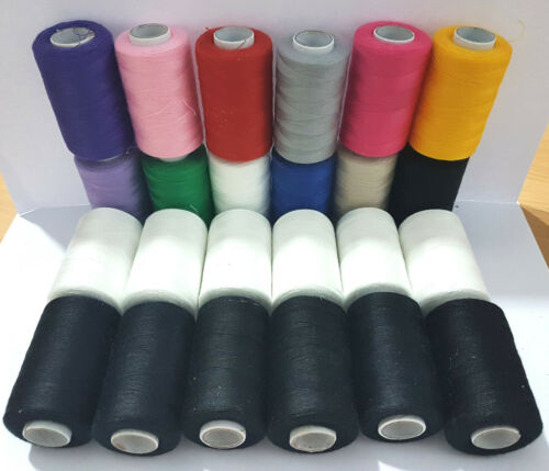 24 Polyester Thread for Embroidery stitching sewing assorted all purpose thread
