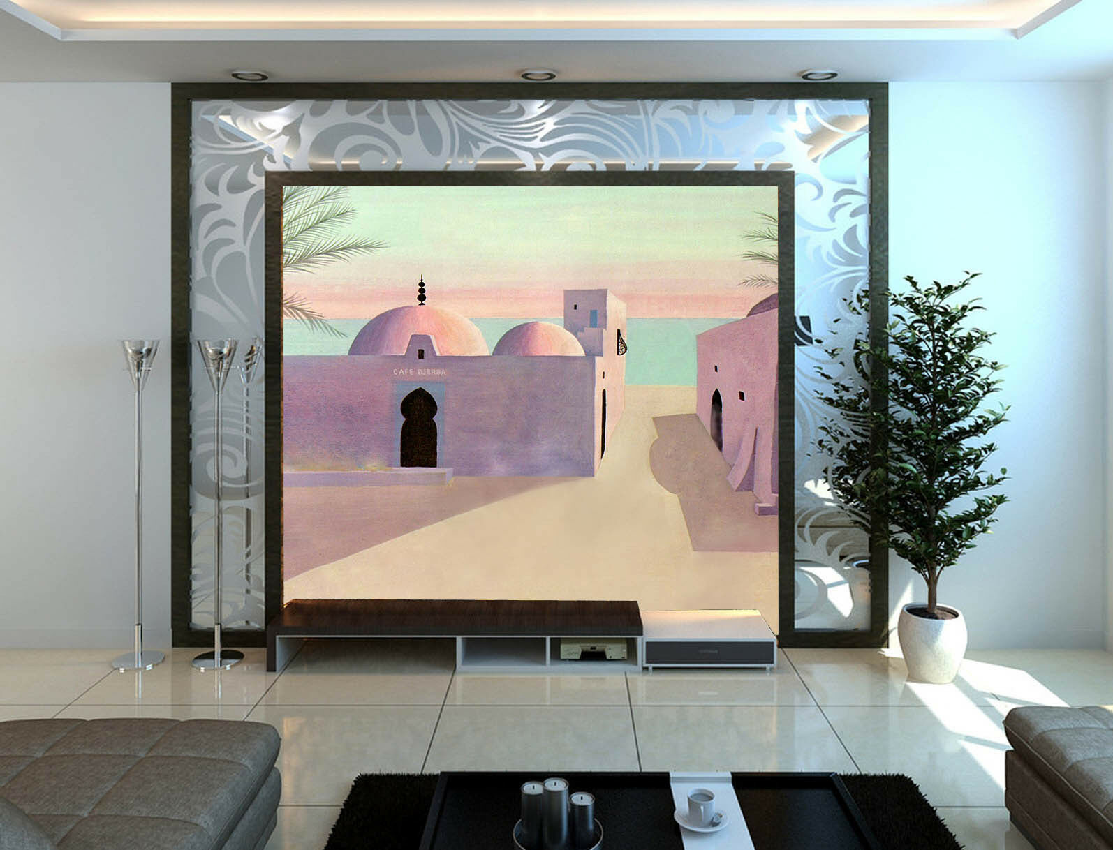 3D Cartoon House Paper Wall Print Wall Decal Wall Deco Indoor Murals