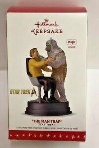 Hallmark-Star-Trek-Chrismas-Ornament-Captain-James-T-Kirk-034-The-Man-Trap-034-H6