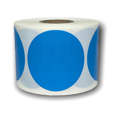 Blue Direct Thermal Shipping Zebra Compatible Labels 3 Round 1 Roll