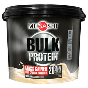 NEW-Musashi-Protein-Powder-Bulk-Mass-Gain-Vanilla-2-28Kg-Sports-Supplements