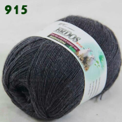 1ball 50g LACE Acrylic Wool Cashmere hand knitting Yarn Charcoal gray 238-915