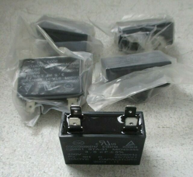 Lot Of 5 New Cqc Ceiling Fan Capacitor Cbb61 3 5uf 4 Wire