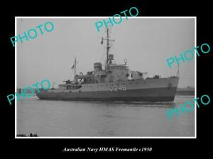 OLD-POSTCARD-SIZE-AUSTRALIAN-NAVY-PHOTO-OF-THE-HMAS-FREMANTLE-SHIP-c1950