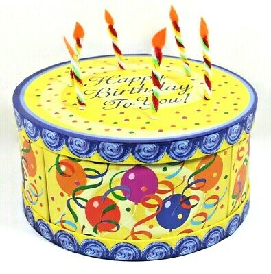 Birthday Cake Gift Box with Candles