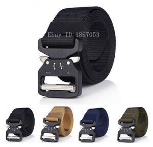 Men-Belt-Tactical-Quick-Releas-Buckles-Combat-Army-Nylon-Strap-Waistbelt-Webbing