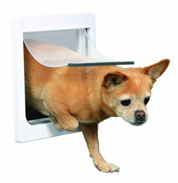 Trixie 2 Way Big Cat Pet Dog Flap Lockable Door Size Xs S 25x29 Cm