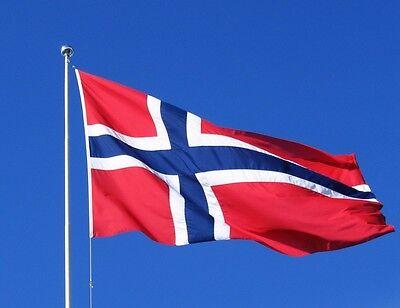 Outdoor Fußball Banner Norwegisch Flagge Dekoration Polyester 90x150 Cm