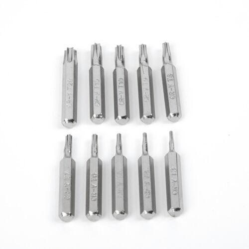 10Stk CR-V Torx Bits Biteinsatz Bit T3,T4,T5,T6,T7,T8,T9,T10,T15,T20 TX Bits