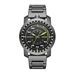 DZ1751-New-Genuine-DIESEL-Rig-Grey-Stainless-Steel-Bracelet-Watch-RRP-165
