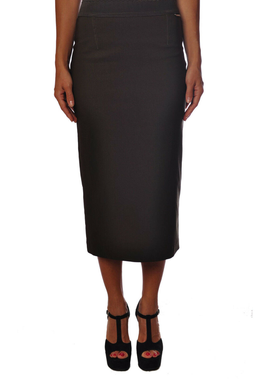 Twin Set  -  Pencil skirts - Female - Brown - 93623A181414