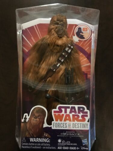 """Star Wars Forces of Destiny ~ 11/"""" ELECTRONIC ROARING CHEWBACCA FIGURE  Hasbro"""