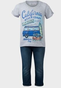 New Babaluno Baby Boys T-Shirt /& Jeans Outfit Set