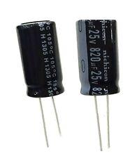 10pcs 820uF 25V 105C Radial Electrolytic Capacitor 10mm*20mm