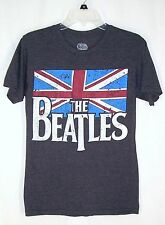 The Beatles British Flag Gray Tshirt Top Sz S Retro 2015 Apple Corps LTD