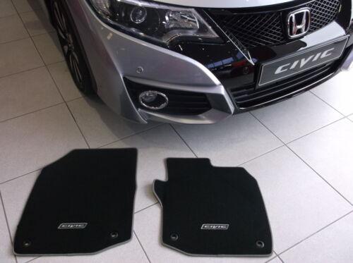 Genuine Honda Alfombra Esteras Civic 5 puertas 2012-2016 negro con adorno de plata 35CM