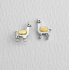 Far-Fetched-Llama-Pendientes-925-Plata-de-Ley-Tuerca-Laton-EW-893-Caja