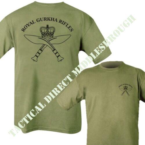 BRITISH ARMY ROYAL GURKHA RIFLES REGIMENT T-SHIRT MENS S-2XL 100/% COTTON TOP