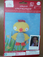 Kids Stitch-it Baby Chick Keyring Craft Kit Ages 6-12 Keychain Easter