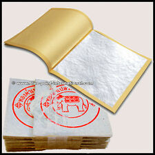 100 SILVER LEAF LEAVES - 999/1000 PURE - 24 CARATS - EDIBLE - FOOD GRADE - GOLD
