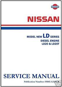 nissan workshop manual ld20 ld20t diesel engine service and repair rh ebay com nissan ld20 diesel engine manual Nissan Ka Engine