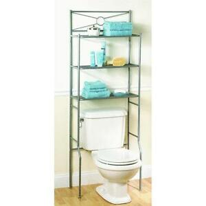 Bathroom-Over-the-Toilet-Cabinet-Organizer-Satin-Nickel