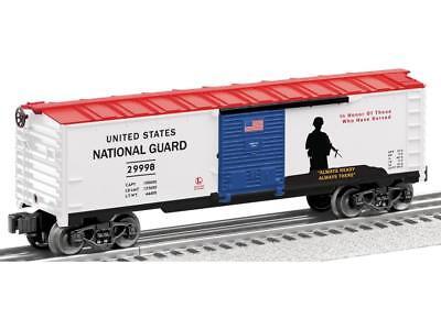 SH NEW MADE IN U.S.A. LIONEL TRAINS CLOSEOUTS 0//027 29998 NAT GUARD BOXCAR