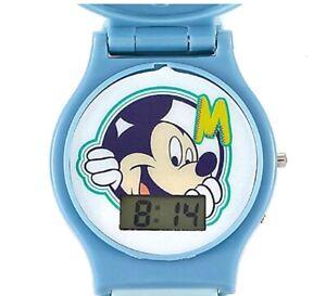 disponibilidad en el reino unido df525 38d10 Detalles de Disney Mickey Mouse Reloj Infantil Intercambiable Cabeza Azul  Digital