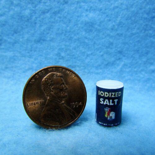 Dollhouse Miniature Replica Carton of Iodized Salt ~ HR55051