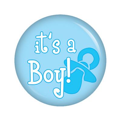 Kiwikatze® Baby its a boy 37mm Button Ansteckbutton für Wickeltasche oder K...
