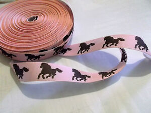 1m of horse pony gg ribbon hair clips sewing craft PINK with brown pony girl - <span itemprop='availableAtOrFrom'>Scarborough, North Yorkshire, United Kingdom</span> - 1m of horse pony gg ribbon hair clips sewing craft PINK with brown pony girl - Scarborough, North Yorkshire, United Kingdom