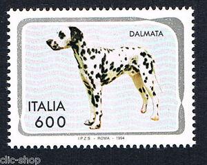 ITALIA-1-FRANCOBOLLO-ANIMALI-CANI-DALMATO-1994-nuovo