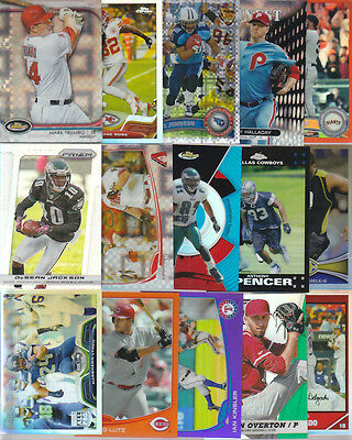 HUGE SPORTS CARD COLLECTION REFRACTOR LOT FLACCO LYNCH POSEY ORTIZ CANO ROMO