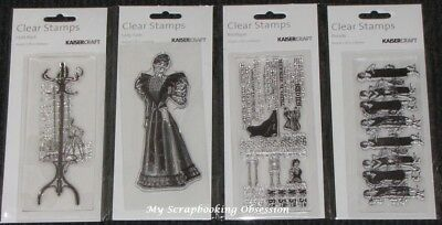 Kaisercraft TEXTURE Clear Stamps 'FASHION' Girls (Choose from 4 Designs) KAISER