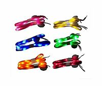 6 Pairs Led Nylon Shoelaces Light Up Shoe Laces With 3 Modes In... Free Shipping