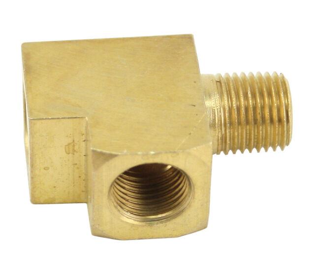 "Brass T-Fitting For Gauges 1/8"" NPT 9205 Oil Pressure"
