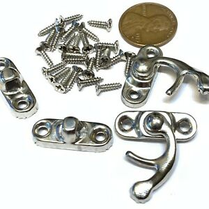 2-pieces-BXR-brand-S-Silver-Nickle-Wood-Box-Case-Latch-Clasp-small-metal-a10