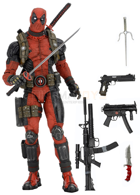 Marvel Comics Movie 1/4 Scale Action Figure DEADPOOL NECA 45cm Quarter Scale