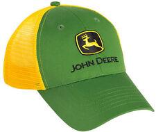 NEW John Deere YOUTH SIZE Green Twill Yellow Mesh Cap JD Hat LP39527