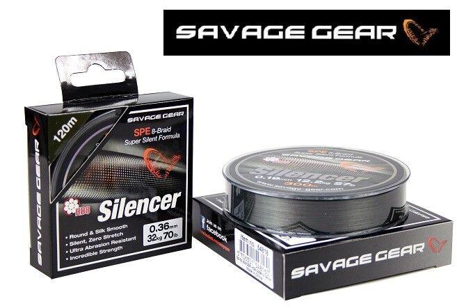 Geflochtene Schnur SAVAGE GEAR HD8 Silencer  Braid Angelschnur 120m 300m Top    preferential