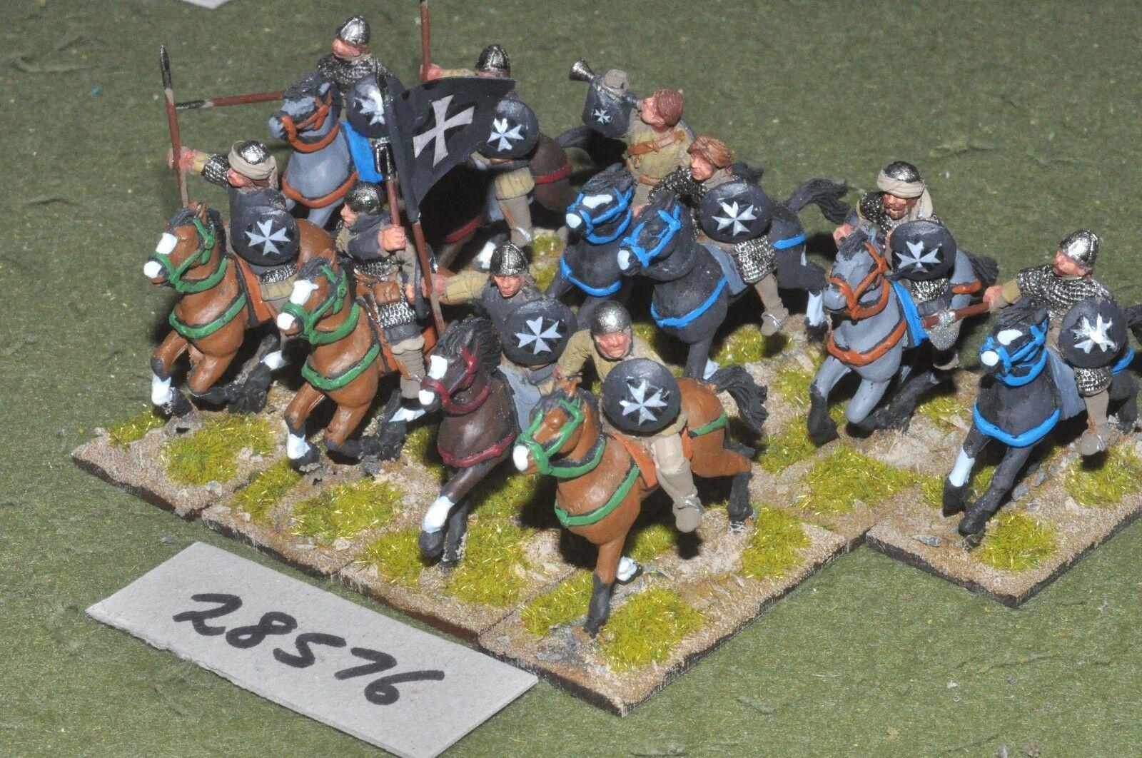 25mm medieval   crusader - sergeants 10 figures - cav (28576)