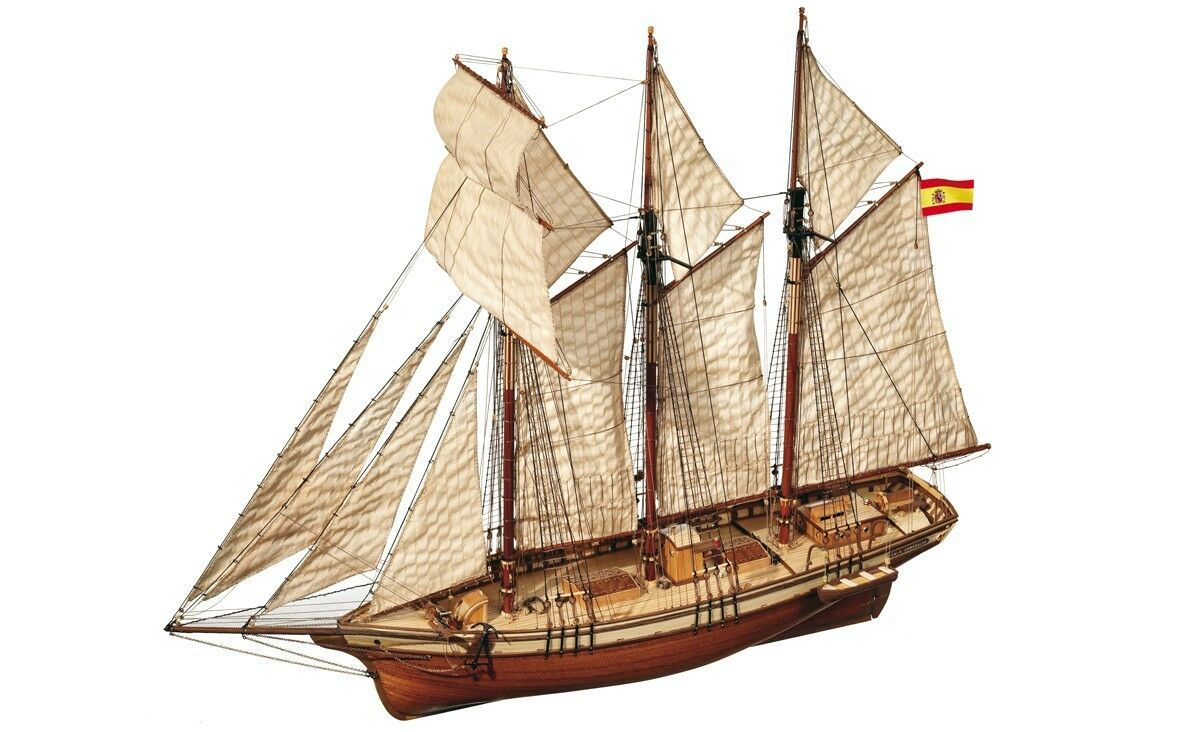 Occre Cala Esmeralda Topsail Schooner 1 58 Scale Model Ship Kit 13002